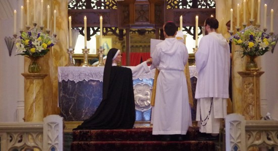 Sr. Maria Teresa, OP receives ring signifying her solemn espousal to Christ