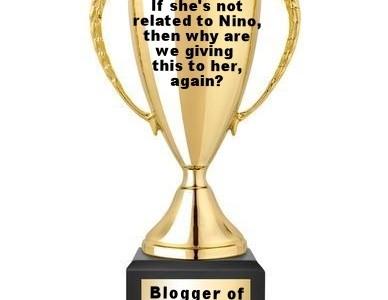 Blogger trophy