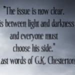 chesterton last words