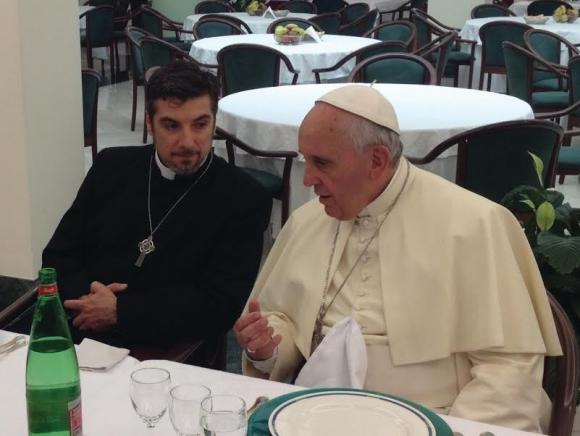 Tony Palmer and Pope Francis, image courtesy of Life Today