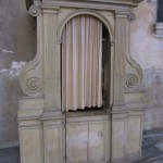 Confessional in Santa Sabina Basilica, Roma/Elizabeth Scalia