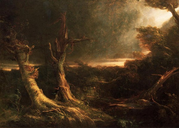 Tornado in Wilderness by Thomas Cole, 1835/Public Domain