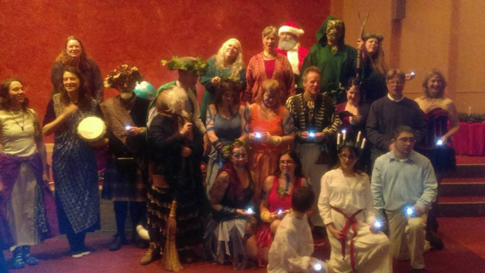 Cast photo from 2015 Circle Sanctuary Yule Pageant