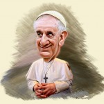 """Pope Francis - Caricature"" by DonkeyHotey via Flickr [CC BY-SA 3.0]"