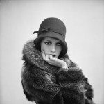 twiggy in a cloche hat