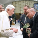 and because I'm feeling especially silly today, The Pope meets a rare Cuban crocodile at his general audience…