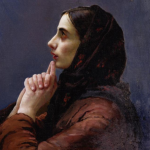 Vasilij Ivanovic Surikov , Young Woman at Prayer c. 1879