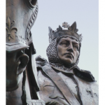 """""""The Apotheosis of Saint Louis"""" - The bronze sculpture depicting Saint Louis IX, King of France, and is located atop Art Hill in front of the Saint Louis Art Museum in Forest Park."""