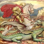 St. George slaying dragon