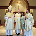 Love these guys! Team McNulty with Bishop Jugis  (Photos by SueAnn Howell, Rico De Silva and Patricia L. Guilfoyle, Catholic News Herald)
