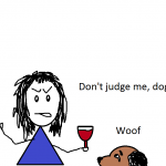 Judgemental dog