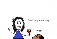 Judgemental dog