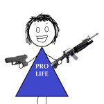 """Pro-lifers don't carry guns. Ever."""