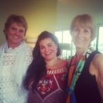 From left to right: Kathe Schaaf, Mohini Mundy and Kay Lindahl - core circle members of WSF