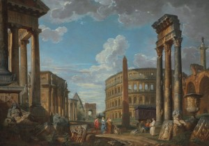 Painting by Giovanni Paolo Panini. Image in the public domain.