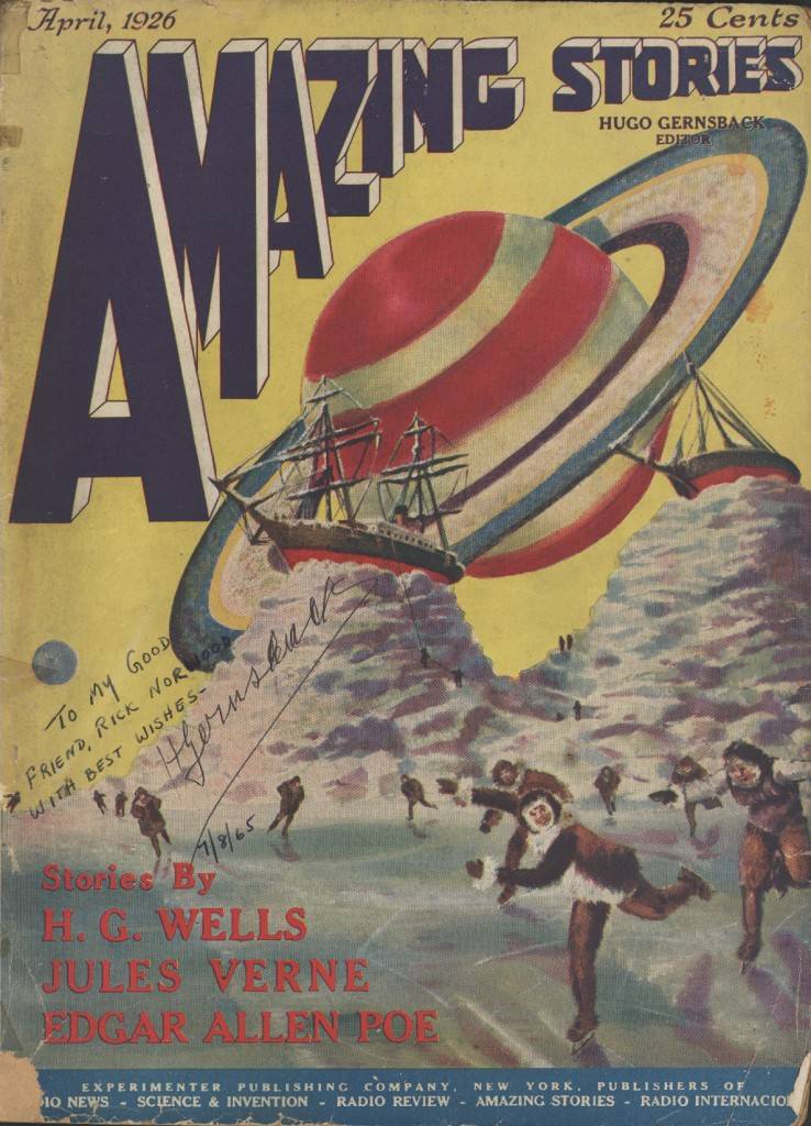 Amazing Stories, April 1926. Volume 1, Number 1 (Public Domain, Source: Wikimedia)