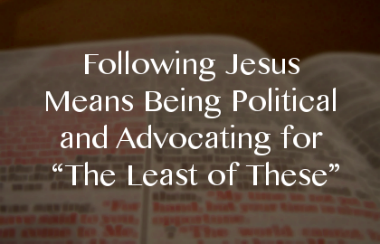 political following jesus
