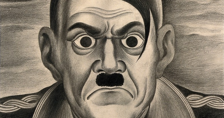 V0010666 Adolf Hitler. Drawing by A.L. Tarter, 194-. Credit: Wellcome Library, London. Wellcome Images images@wellcome.ac.uk http://wellcomeimages.org Adolf Hitler. Drawing by A.L. Tarter, 194-. By: Albert Lloyd TarterPublished: 194-] Copyrighted work available under Creative Commons Attribution only licence CC BY 4.0 http://creativecommons.org/licenses/by/4.0/