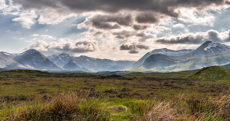 Rannoch Moor, looking toward the Black Mount.