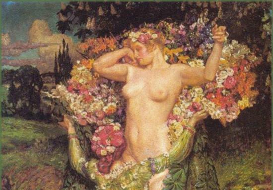"""Spring Rising"" by John Byam Shaw. F rom WikiMedia."