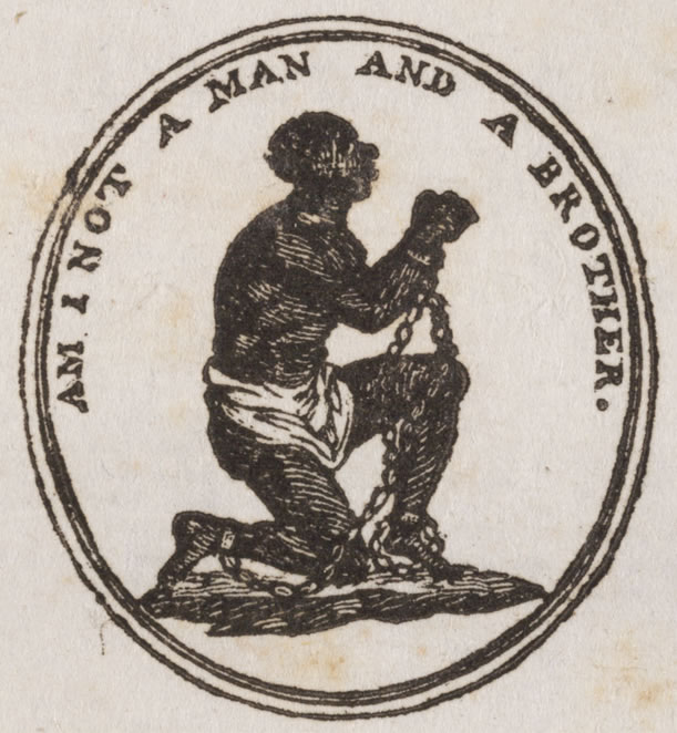A representation inspired by the seal of the Society for the Abolition of Slavery in England. Obtained through Creative Commons.