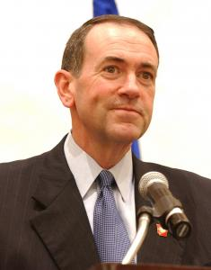 A darling of the Religious Right, Mike Huckabee trafficked in anti-Mormon dog whistles against Mitt Romney. Obtained through Creative Commons.