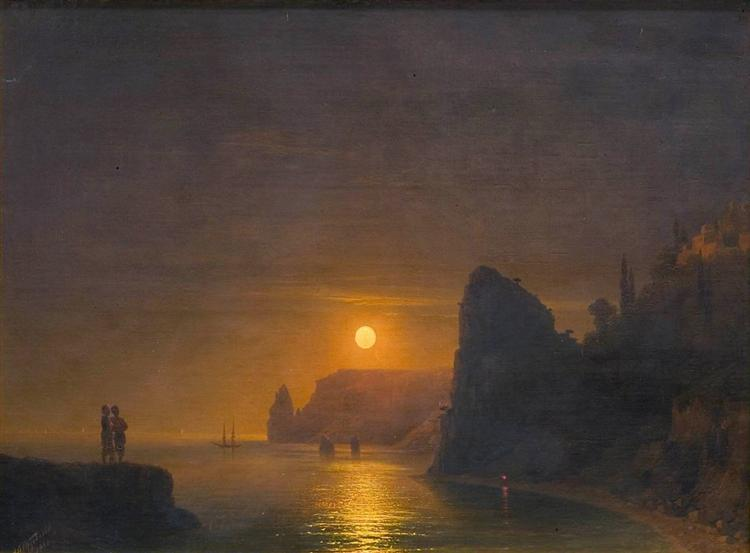 """Moon Path,"" Ivan Aivazovsky"