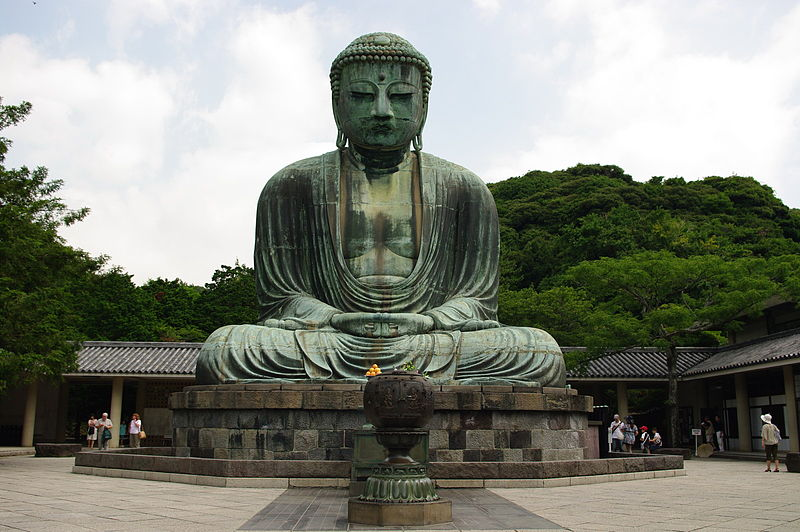 The Kamakura Daibutsu. Photo by user Bgabel at wikivoyage via Wikimedia Commons, CC-BY-SA 3.0