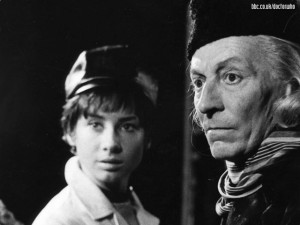 The First Doctor with his granddaughter Susan. Image via BBC, fair use.