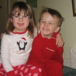 Penny and William on Christmas morning 2011