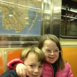 Penny and William ride the subway on her 7th birthday
