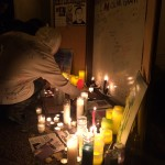 Vigil Altar in Oakland CA. Photo by T. Coyle