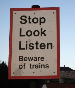 Stop. Look. Listen. pic from morguefile