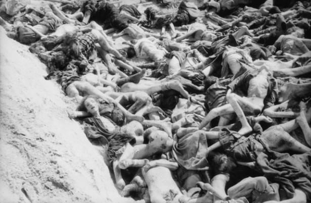 Evil: a mass grave inside Bergen-Belsen concentration camp: the innocents suffer