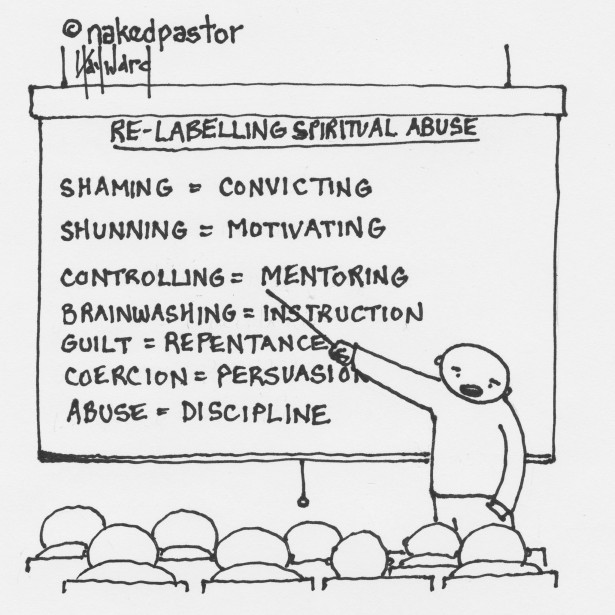 Relabeling church related abusive people