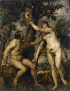 Adam, Eve, and the Serpent: Peter Paul Rubens painting of Adam Eve and the serpent
