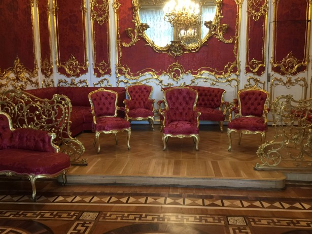 living room furniture from the Winter Palace, rich and privileged