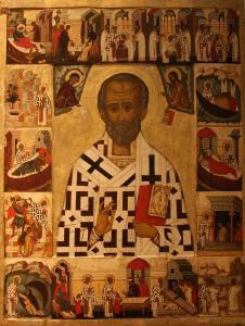 St. Nickolas, a fourth century saint.