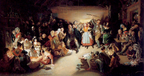 """Snap-Apple Night"" by Daniel Maclise. From WikiMedia."