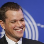 Matt Damon wants to kiss George Bush