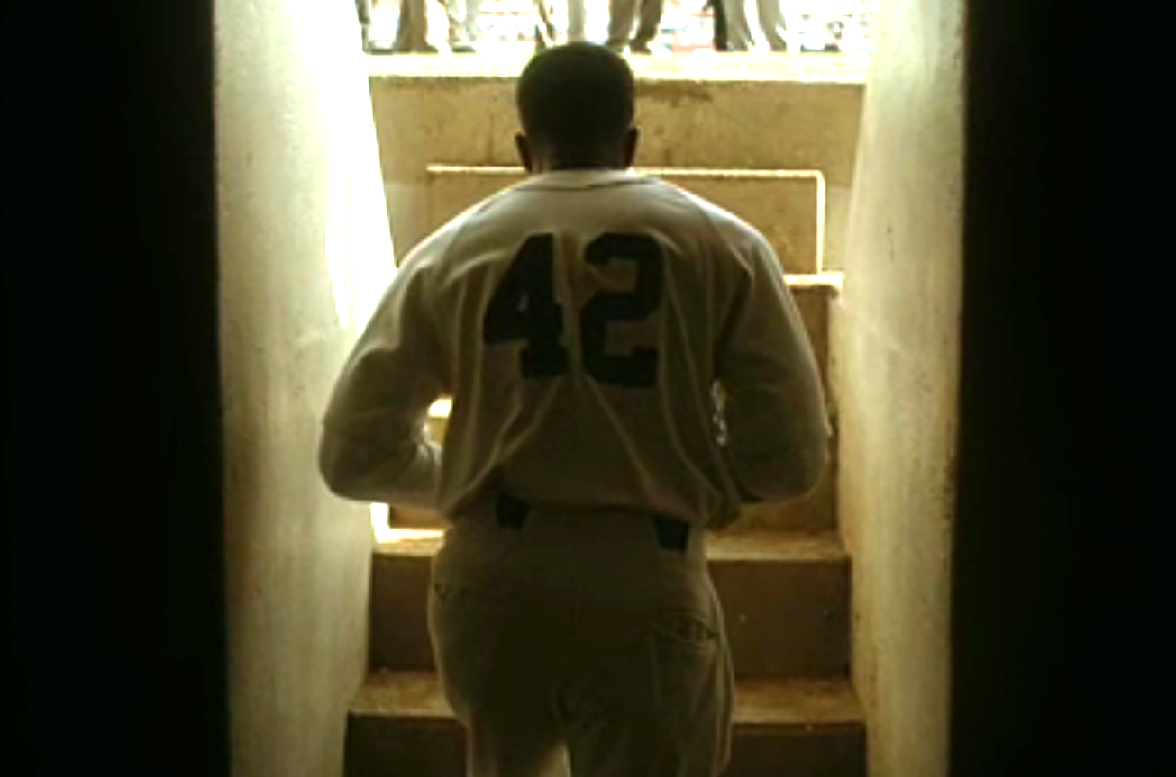 "Soft Heroism of the Jackie Robinson Story ""42"" - Tinsel"