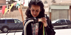 Wadjda (Waad Mohammed), with her beloved bicycle