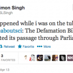 DONE! Lords Pass Defamation Bill! Simon Singh, Et Al, Rejoice #UK #LibelReform