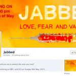 jabbed screen shot facebook page