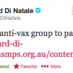 The End Of The Australian Vaccination Network? Greens Health Spokesperson Di Natale Speaks Out In Senate Today