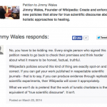 "Founder Of Wikipedia Makes A Stand Against ""Holistic Approaches To Healing"""