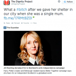 Not-So Christian Charity To J.K Rowling, Tweets Dignity Project