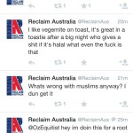 #ReclaimAustralia's Twitter Account Goes Wild, Hilarity Ensues