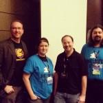 Daniel, Kylie, John and PZ Swancon 2015