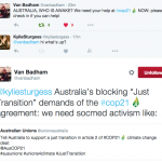 #JustTransition In Article 2 Para 2 of #COP21 Australia! (A Social Media Callout)